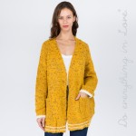 Wholesale do everything Love Brand Varsity Confetti Knit Cardigan Pockets One fi