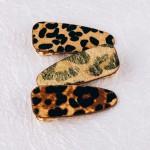 Wholesale faux fur leopard print hair clip