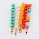 Wholesale flower Beaded Hair Pin Set pcs set L