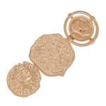 Wholesale coin Statement Hair Barrette Worn Gold L Coins diameter