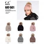 Wholesale c C HAT Rhinestone Star Print Faux Fur Pom Beanie One fits most Acryli