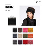 Wholesale c C HW Mixed yarn ribbed headwrap Acrylic One fits most