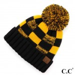 Wholesale c C HAT Fuzzy Lined Buffalo Check Game Day Pom Beanie One fits most Ac