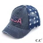 Wholesale c C BA USA Vintage USA Baseball Cap Star Details One fits most Adjusta