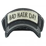 Wholesale bad Hair Day Vintage Distressed Sun Visor One fits most Adjustable Ve