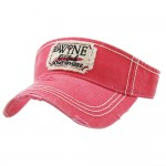 Wholesale it s Wine O Clock Somewhere Embroidered Distressed Sun Visor One fits