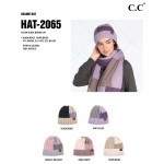 Wholesale c C HAT Color Block Multi Knit Beanie Cuff One fits most Acrylic
