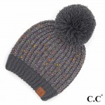 Wholesale c C HAT Confetti Chenille Knit Pom Beanie One fits most Acrylic Polyes