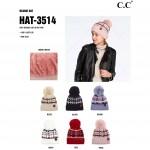 Wholesale c C HAT Chunky Knit Pom Beanie One fits most Acrylic