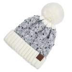 Wholesale c C HAT Confetti Cable Knit Pom Beanie Cuff One fits most Acrylic Poly