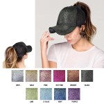 Wholesale c C BT Glittery Trucker Cap Mesh Back One fits most Adjustable Velcro