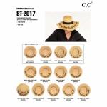 Wholesale c C ST Natural Talk Sand paper straw brim sun hat ribbon One fits most
