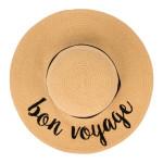 Wholesale c C ST Natural Bon Voyage paper straw brim sun hat ribbon One fits mos