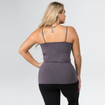 Wholesale women s Plus Seamless Criss Cross Camisole o Strappy detail front o Se