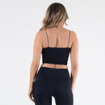 Wholesale women s Solid Seamless Crop Camisole o Soft comfortable thin straps o