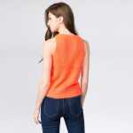 Wholesale cropped waist knit vest adjustable drawstring Cotton Acrylic