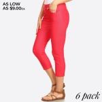 Wholesale women s Classic Skinny Capri Jeggings o Capri jeggings light sheen jea