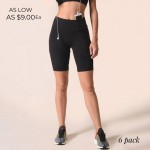 Wholesale women s Active Rise Matte Bike Shorts o Elasticized rise waistband o C