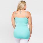 Wholesale women s Solid Plus Seamless Camisole Tank Top o Spaghetti straps o Sea