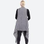 Wholesale reversible Buffalo Check Vest One fits most longest Acrylic