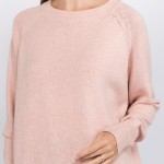 Wholesale solid Heather Knit Sweater One fits most L Polyester