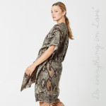 Wholesale do everything Love Brand Lightweight Snakeskin Kimono One fits most L