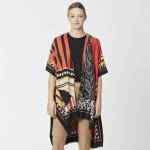Wholesale do everything Love Brand Lightweight Multi Geometric Patch Kimono One