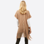 Wholesale women s Chenille Knit Shawl Fringe Tassel Trim One fits most L Polyest