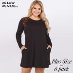Wholesale women s Plus Long Sleeve Tunic Dress Leopard Print Shoulder Detail PAC
