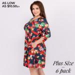 Wholesale women s plus Christmas nutcracker print Line dress pocket details o sl