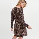 Wholesale women s Classic Faux Button Down Leopard Print Dress Pockets o Long sl