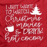 Wholesale red Bella Canvas short sleeve Christmas printed boutique graphic tee I