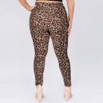 Wholesale women s Plus Classic Cheetah Print Leggings Pack o Long skinny leg o r