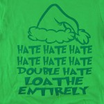 Wholesale green Anvil Lightweight short sleeve Grinch Christmas printed boutique