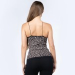 Wholesale women s Seamless Leopard Print Camisole o Soft comfortable thin straps