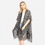 Wholesale women s Lightweight Sheer Leopard Print Kimono One fits most L Polyest