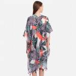 Wholesale tropical palm leaf tassel kimono One fits most L Polyester