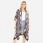 Wholesale women s Lightweight Soft Touch Snakeskin Kimono One fits most L Polyes