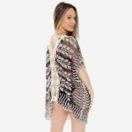 Wholesale women s lace mesh crochet trim swimsuit cover up top One fits most L V