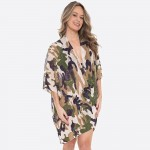 Wholesale women s Lightweight Camouflage Print Kimono One fits most L Polyester