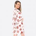Wholesale women s Short Floral Print Kimono One fits most L Viscose
