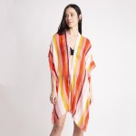 Wholesale women s Lightweight Distressed Striped Kimono One fits most L Viscose