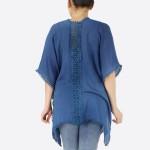 Wholesale women s Short Lightweight Crochet Trim Kimono Crochet Back Details One