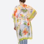 Wholesale women s Short Lightweight Sheer Floral Print Kimono One fits most L Po
