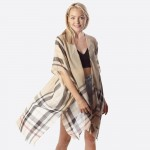 Wholesale women s Lightweight Sheer Plaid Print Kimono One fits most L Polyester