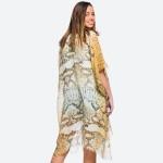Wholesale women s lightweight snakeskin kimono One fits most L Polyester