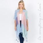 Wholesale do everything Love Brand Lightweight Gingham Colorblock Kimono One fit