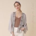 Wholesale do everything Love brand women s lightweight crochet trim short kimono