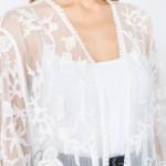 Wholesale do everything Love Brand Women s Short Floral Mesh Crochet Kimono One