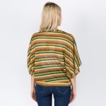 Wholesale do everything Love brand women s lightweight open knit zigzag crop top